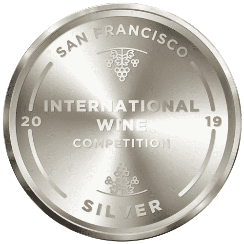 Round Medal with grape logo shown